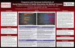 Frequency and Perceived Authenticity of Social Determinants of Health Discussion by Medical Trainees